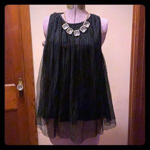 Mini Chica - Black Lace Top!